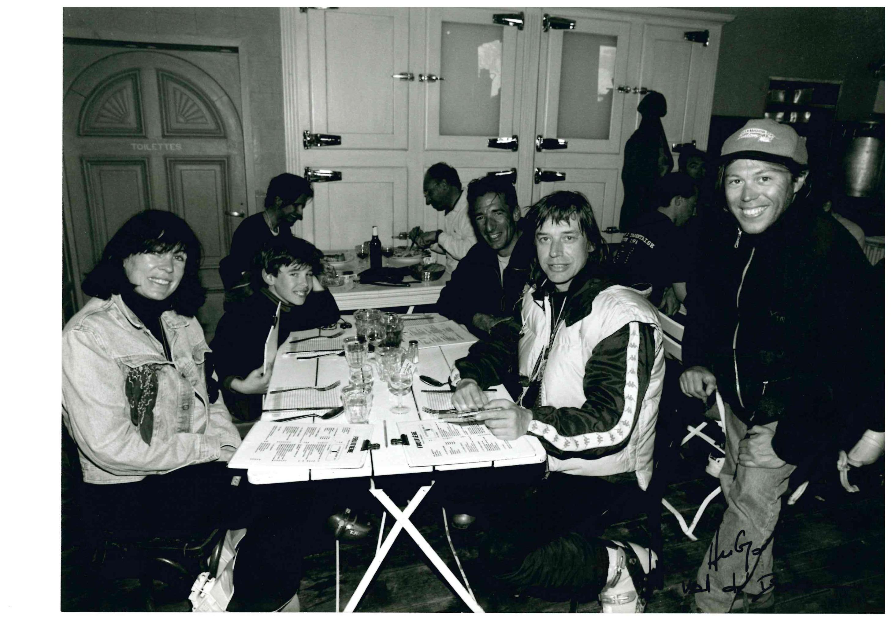 JEAN LOUIS AUBERT ET SA FEMME, DEJEUNER A LA FRUTIIERE AVEC SON MONITEUR 1998