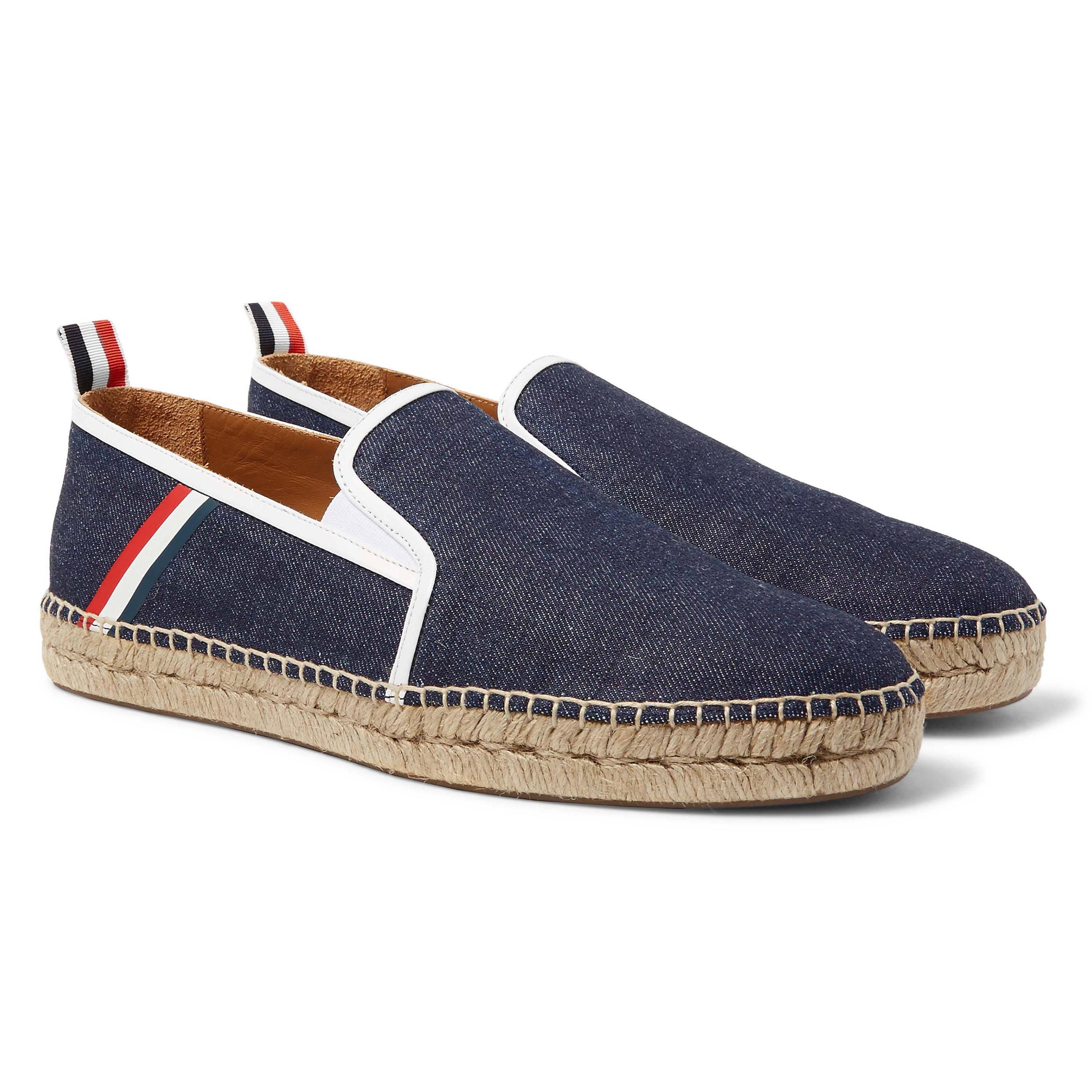 DENIM ESPADRILLE WITH TRI COLOUR TAPE