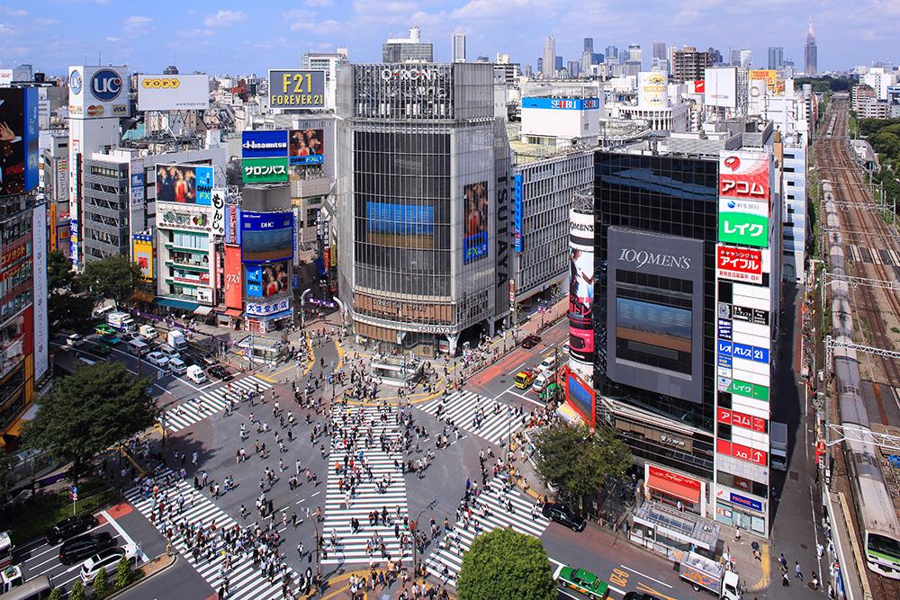 Le célèbre carrefour de Shibuya