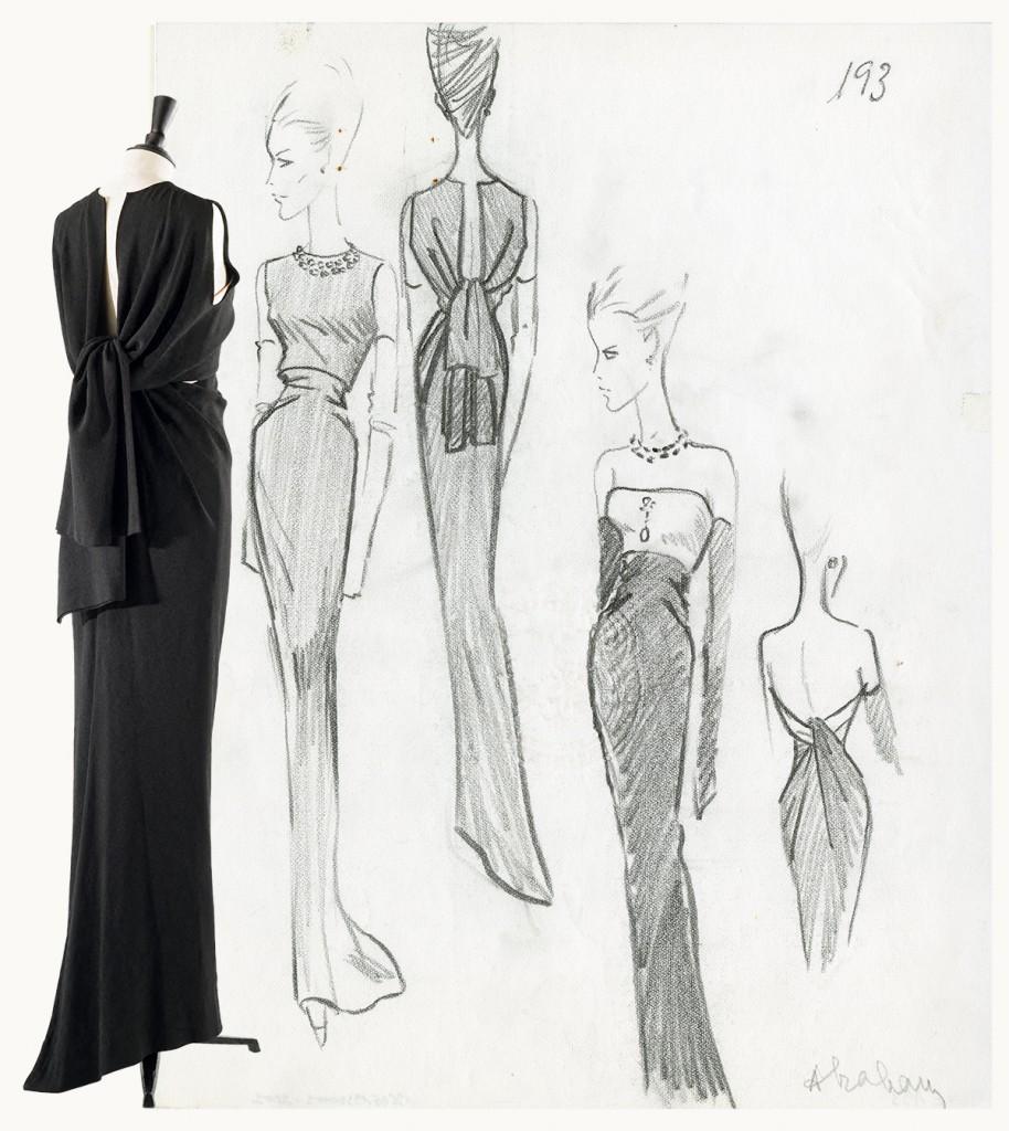 Julien-Vidal-Galliera-Roger-Viollet-illustration-de-collection-ete-1964-Balenciaga-Archives-Paris