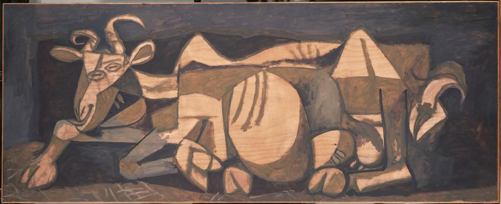Picasso-la-chevre-1950-huile-et-fusain-sur-contreplaque-93x231cm-Succession-Picasso